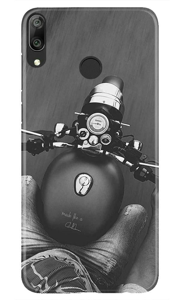 Royal Enfield Mobile Back Case for Honor Play (Design - 382)