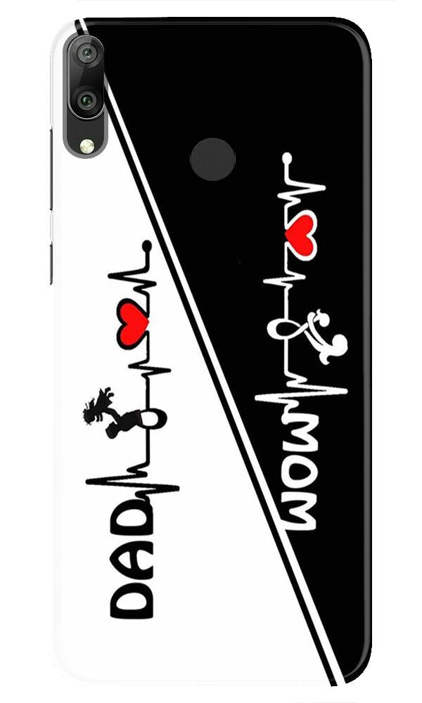 Love Mom Dad Mobile Back Case for Honor Play (Design - 385)