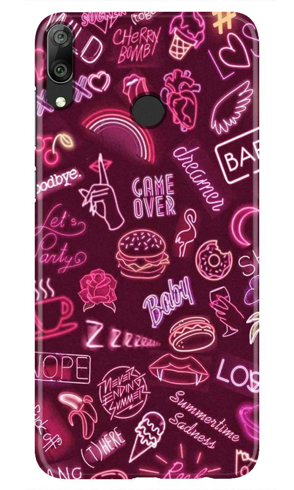 Party Theme Mobile Back Case for Honor Play (Design - 392)