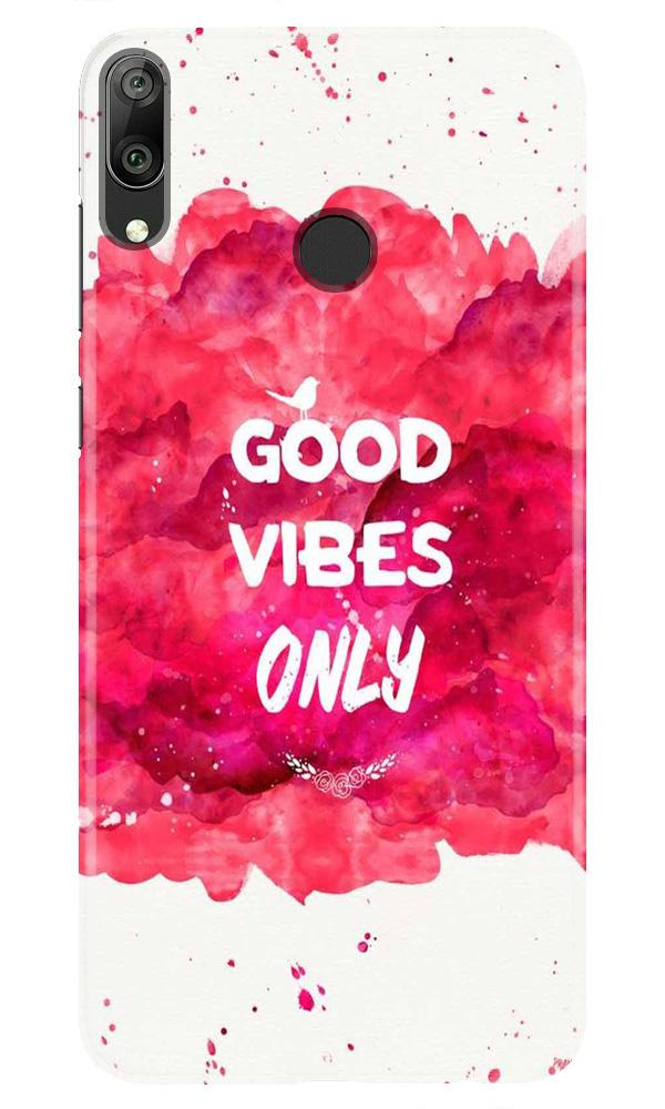 Good Vibes Only Mobile Back Case for Honor Play (Design - 393)