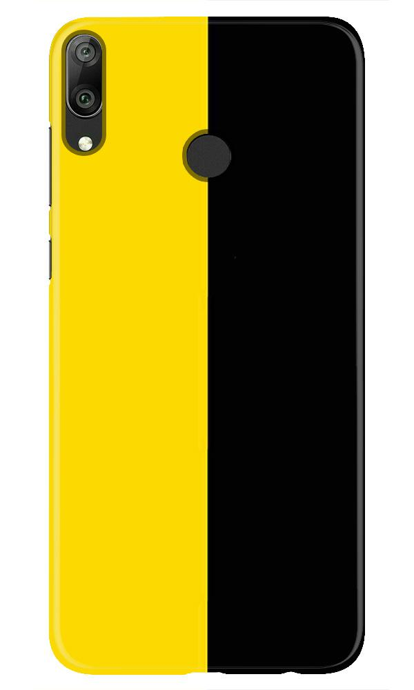 Black Yellow Pattern Mobile Back Case for Honor Play (Design - 397)