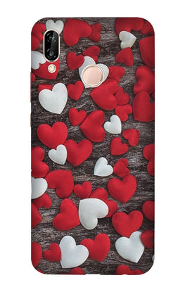 Red White Hearts Case for Vivo V9/Y85  (Design - 105)