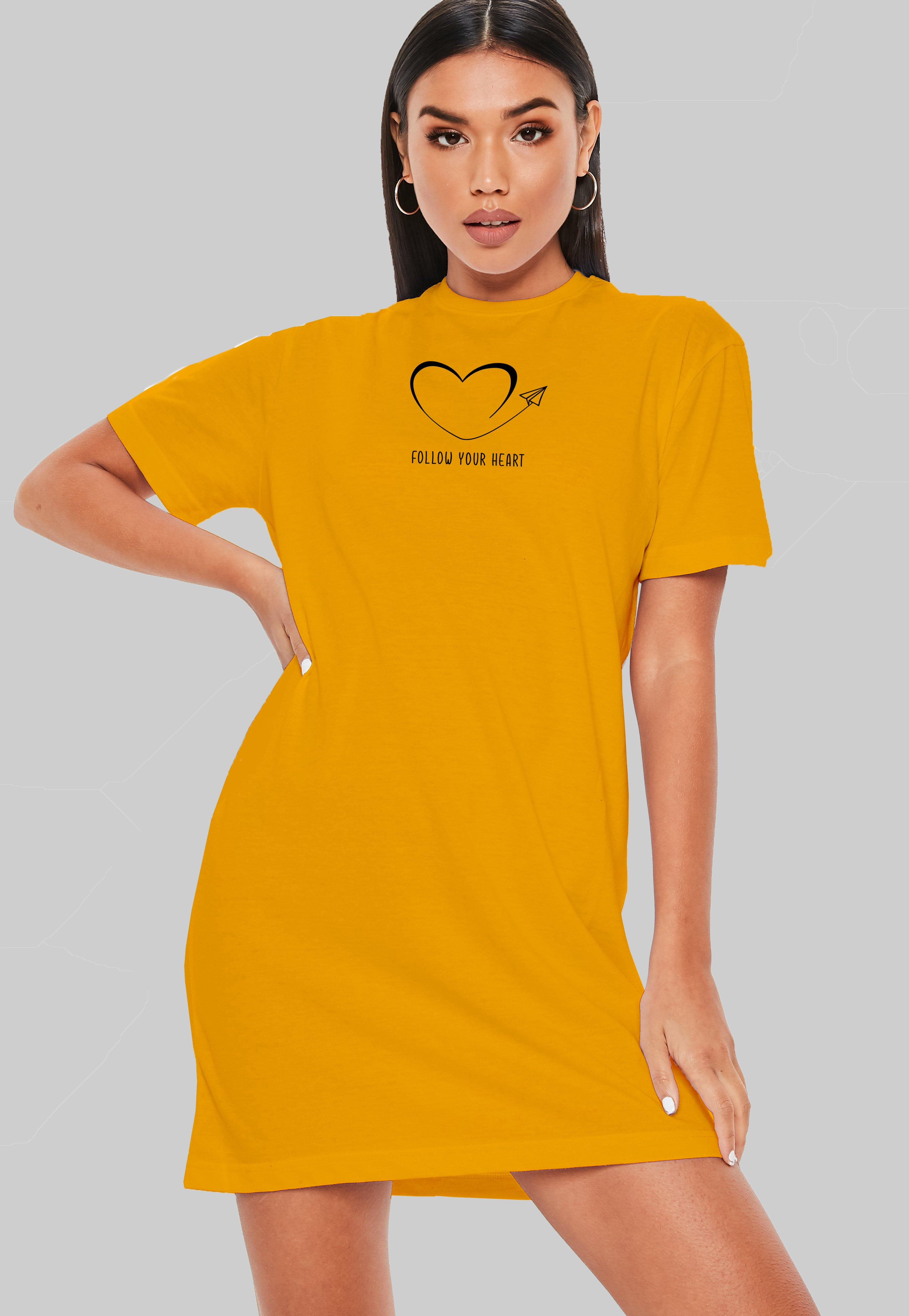 Follow Your Heart T-Shirt Dress