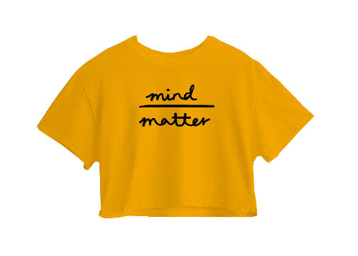 Mind Matter Crop Top