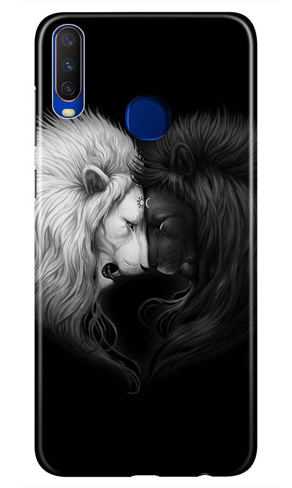 Dark White Lion Case for Vivo Z1 Pro  (Design - 140)