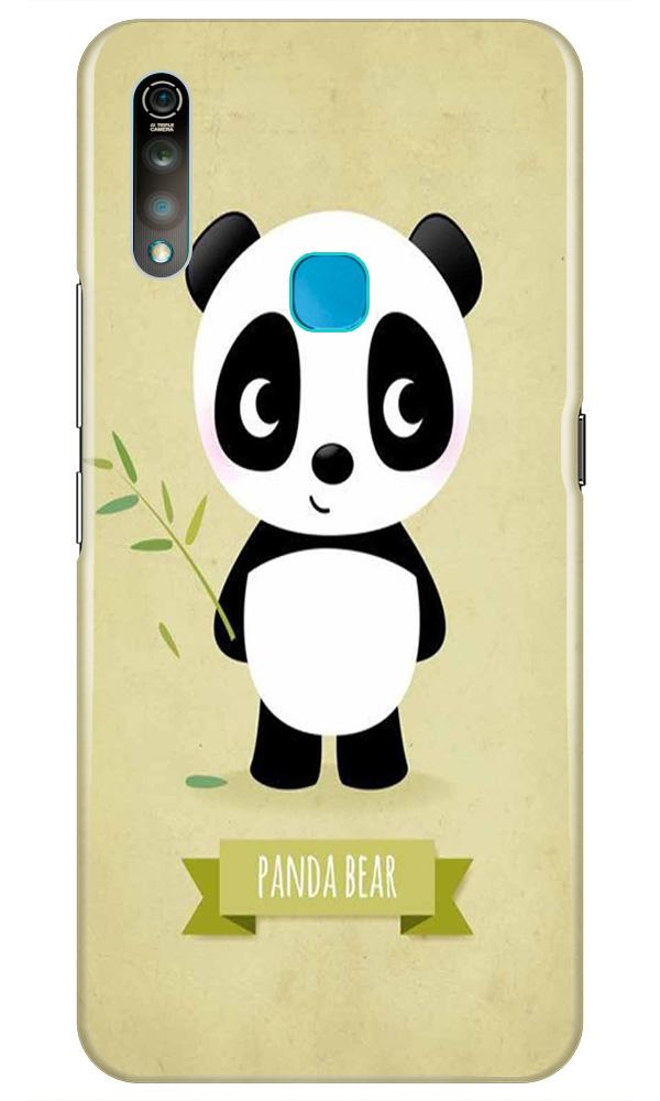 Panda Bear Mobile Back Case for Vivo Z1 Pro   (Design - 317)