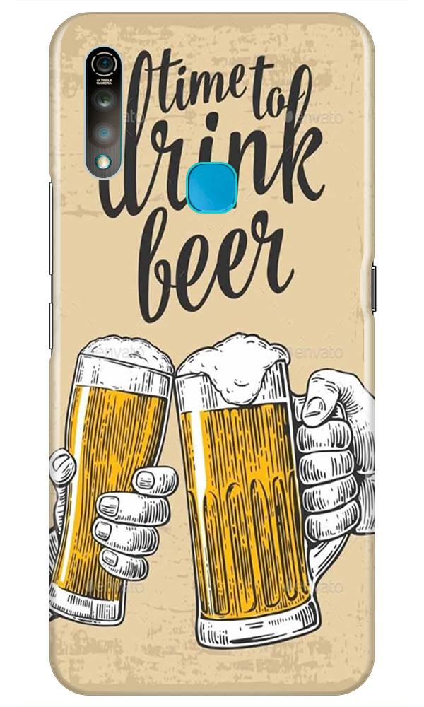 Drink Beer Mobile Back Case for Vivo Z1 Pro   (Design - 328)