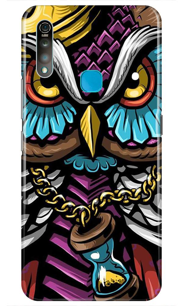 Owl Mobile Back Case for Vivo Z1 Pro   (Design - 359)