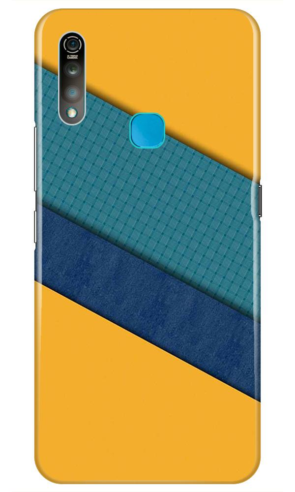 Diagonal Pattern Mobile Back Case for Vivo Z1 Pro   (Design - 370)