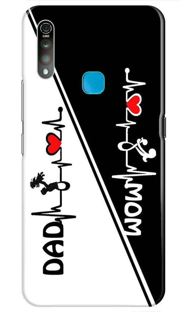 Love Mom Dad Mobile Back Case for Vivo Z1 Pro   (Design - 385)