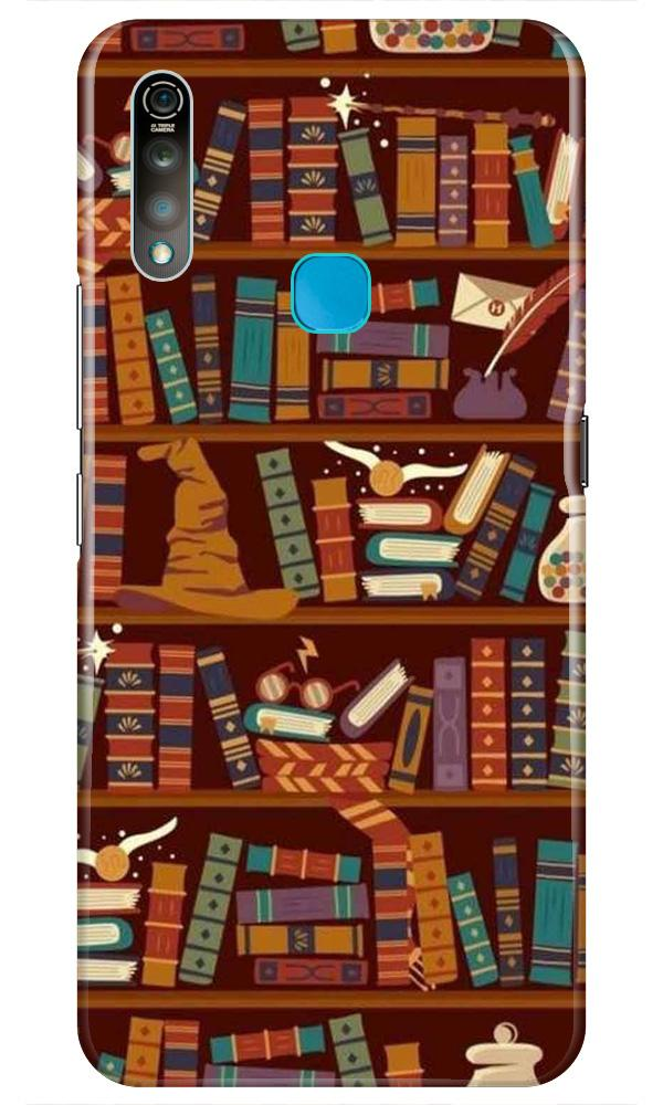 Book Shelf Mobile Back Case for Vivo Z1 Pro   (Design - 390)