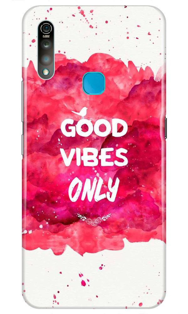 Good Vibes Only Mobile Back Case for Vivo Z1 Pro   (Design - 393)