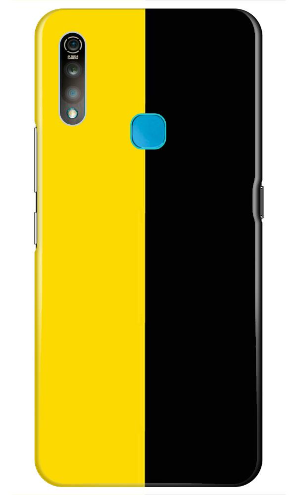 Black Yellow Pattern Mobile Back Case for Vivo Z1 Pro   (Design - 397)