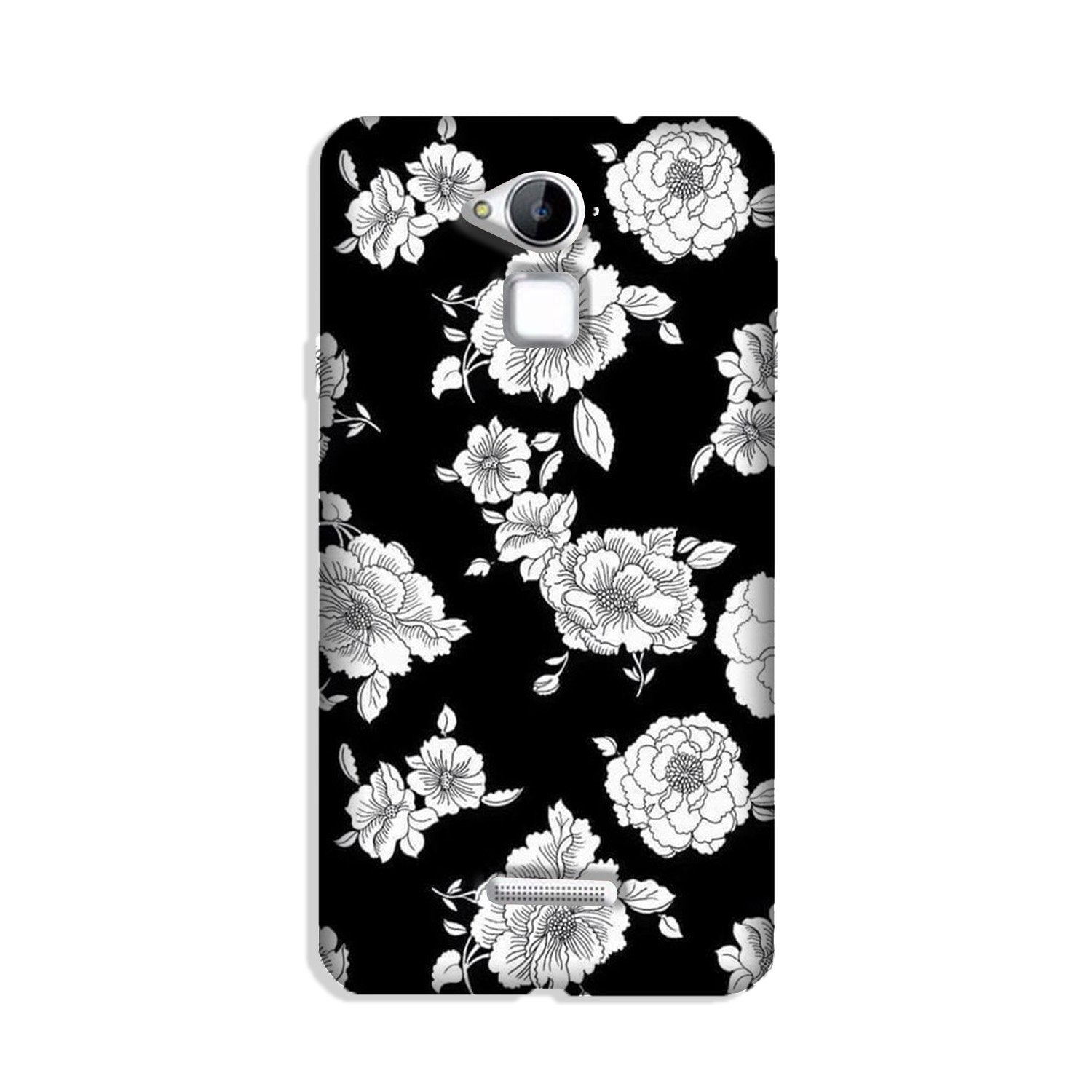 White flowers Black Background Case for Coolpad Note 3