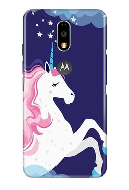 Unicorn Mobile Back Case for Moto G4 Plus (Design - 365)