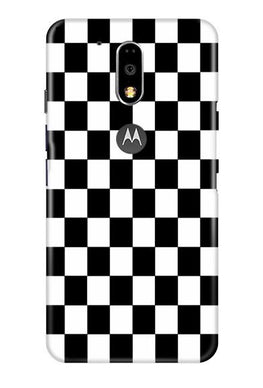Black White Boxes Mobile Back Case for Moto G4 Plus (Design - 372)
