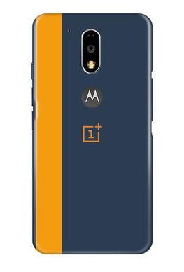 Oneplus Logo Mobile Back Case for Moto G4 Plus (Design - 395)