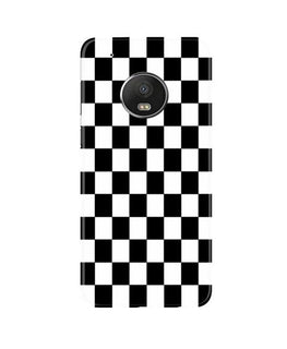 Black White Boxes Mobile Back Case for Moto G5 (Design - 372)