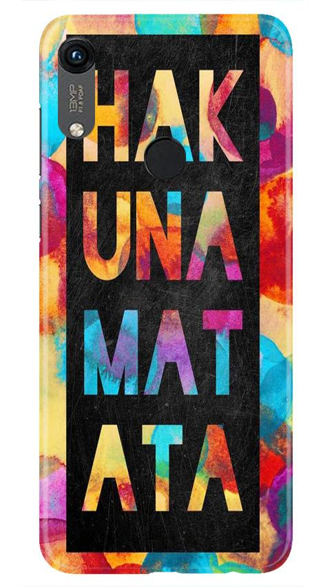 Hakuna Matata Mobile Back Case for Honor 8A (Design - 323)