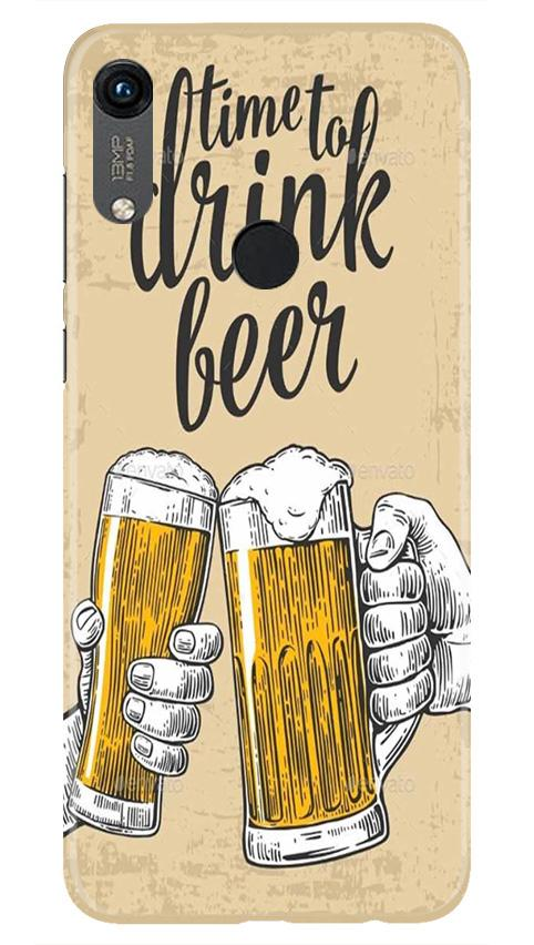 Drink Beer Mobile Back Case for Honor 8A (Design - 328)