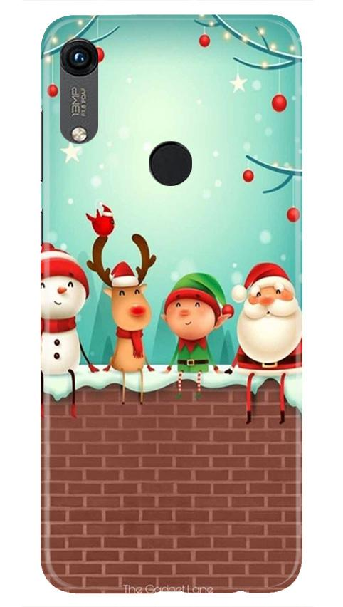 Santa Claus Mobile Back Case for Honor 8A (Design - 334)