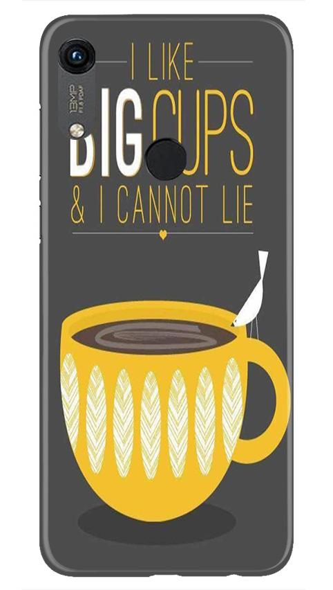 Big Cups Coffee Mobile Back Case for Honor 8A (Design - 352)