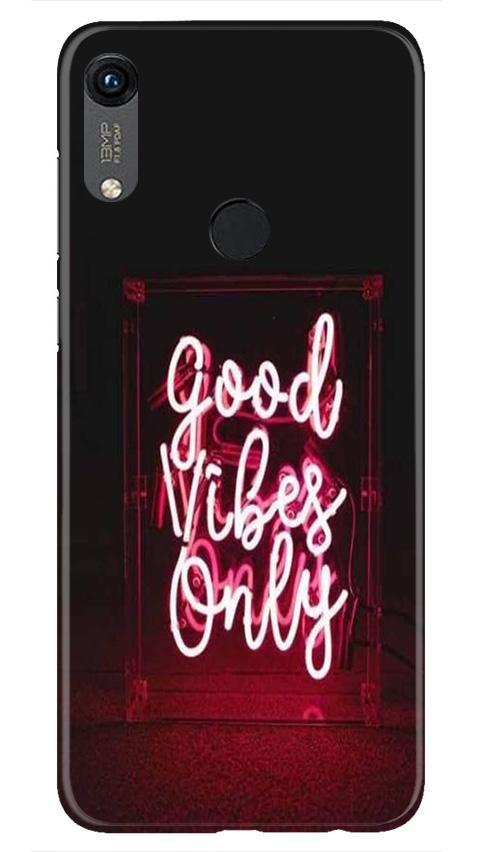 Good Vibes Only Mobile Back Case for Honor 8A (Design - 354)