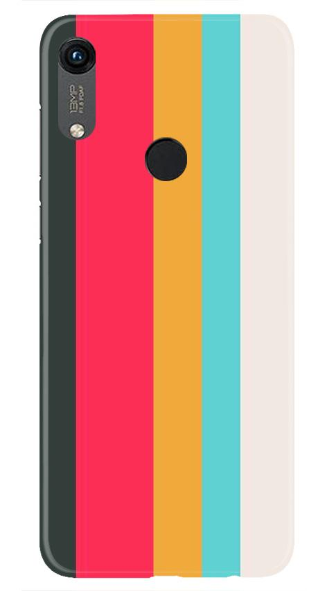 Color Pattern Mobile Back Case for Honor 8A (Design - 369)
