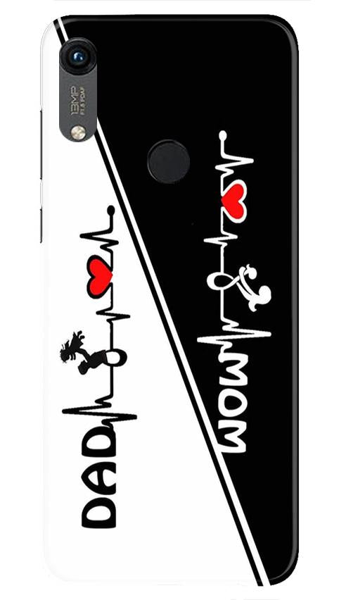 Love Mom Dad Mobile Back Case for Honor 8A (Design - 385)