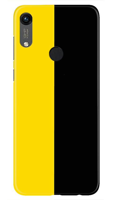Black Yellow Pattern Mobile Back Case for Honor 8A (Design - 397)