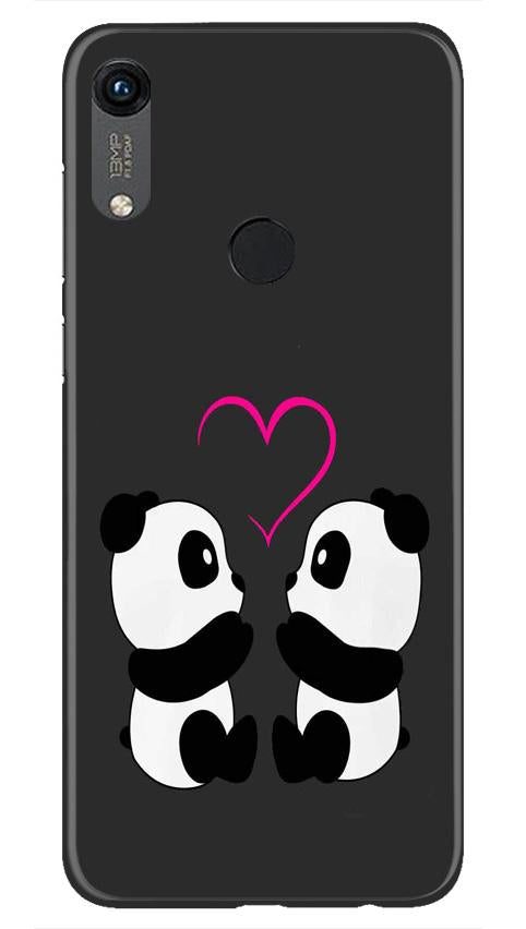 Panda Love Mobile Back Case for Honor 8A (Design - 398)