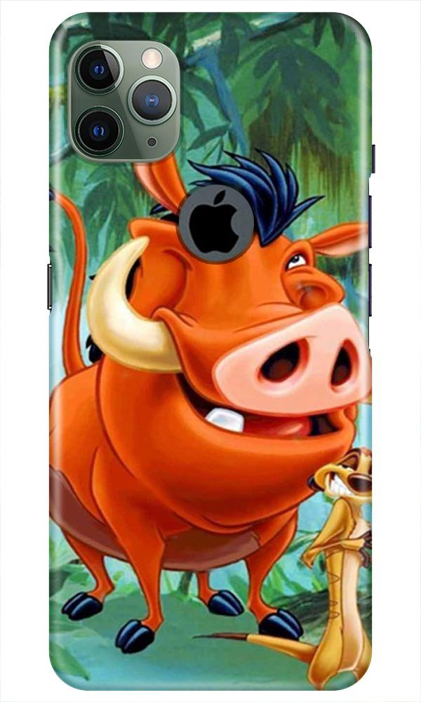 Timon and Pumbaa Mobile Back Case for iPhone 11 Pro Max Logo Cut (Design - 305)