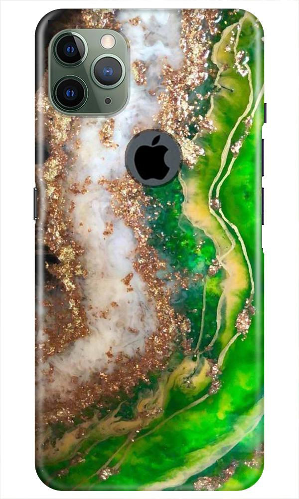 Marble Texture Mobile Back Case for iPhone 11 Pro Max Logo Cut (Design - 307)