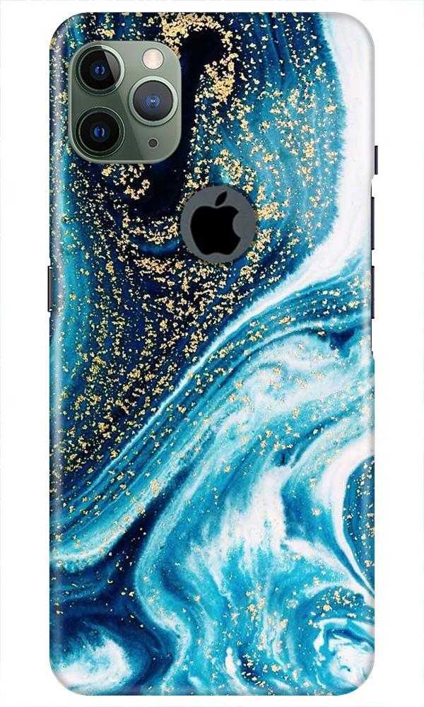 Marble Texture Mobile Back Case for iPhone 11 Pro Max Logo Cut (Design - 308)