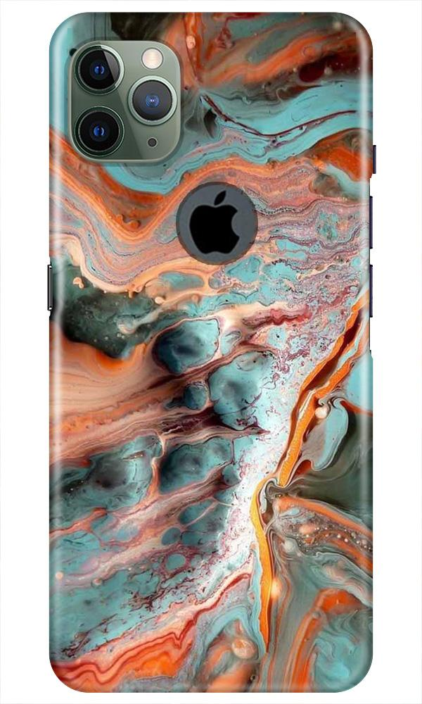 Marble Texture Mobile Back Case for iPhone 11 Pro Max Logo Cut (Design - 309)