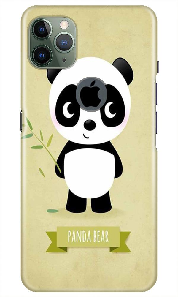 Panda Bear Mobile Back Case for iPhone 11 Pro Max Logo Cut (Design - 317)