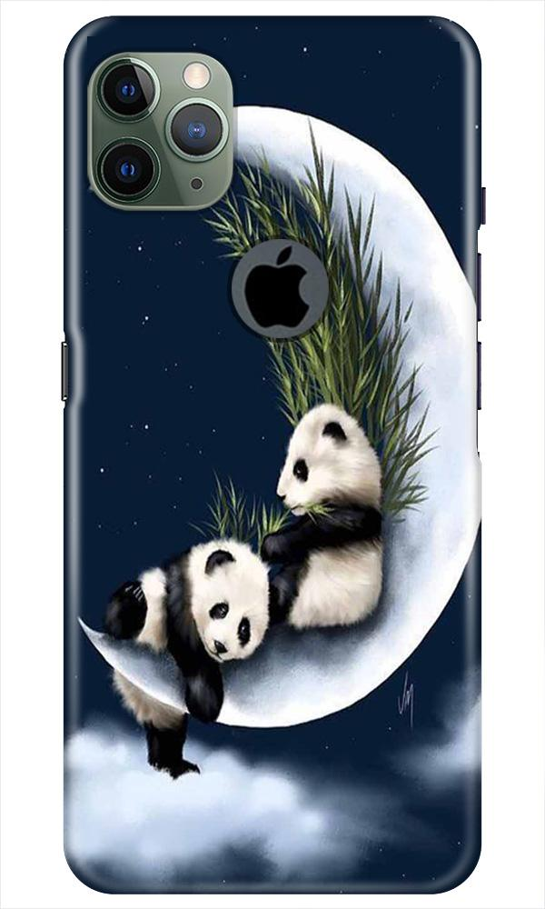 Panda Moon Mobile Back Case for iPhone 11 Pro Max Logo Cut (Design - 318)