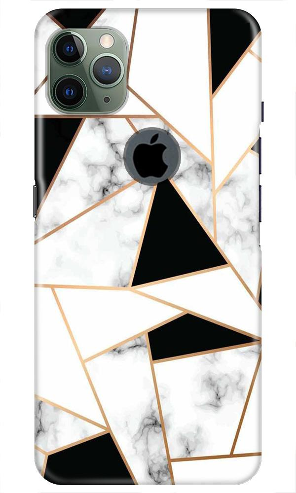 Marble Texture Mobile Back Case for iPhone 11 Pro Max Logo Cut (Design - 322)