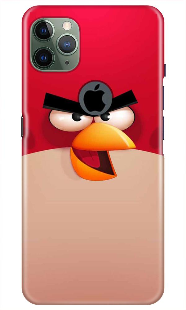 Angry Bird Red Mobile Back Case for iPhone 11 Pro Max Logo Cut (Design - 325)