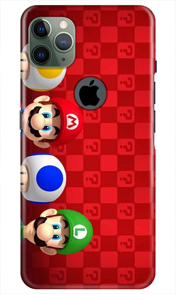 Mario Mobile Back Case for iPhone 11 Pro Max Logo Cut (Design - 337)