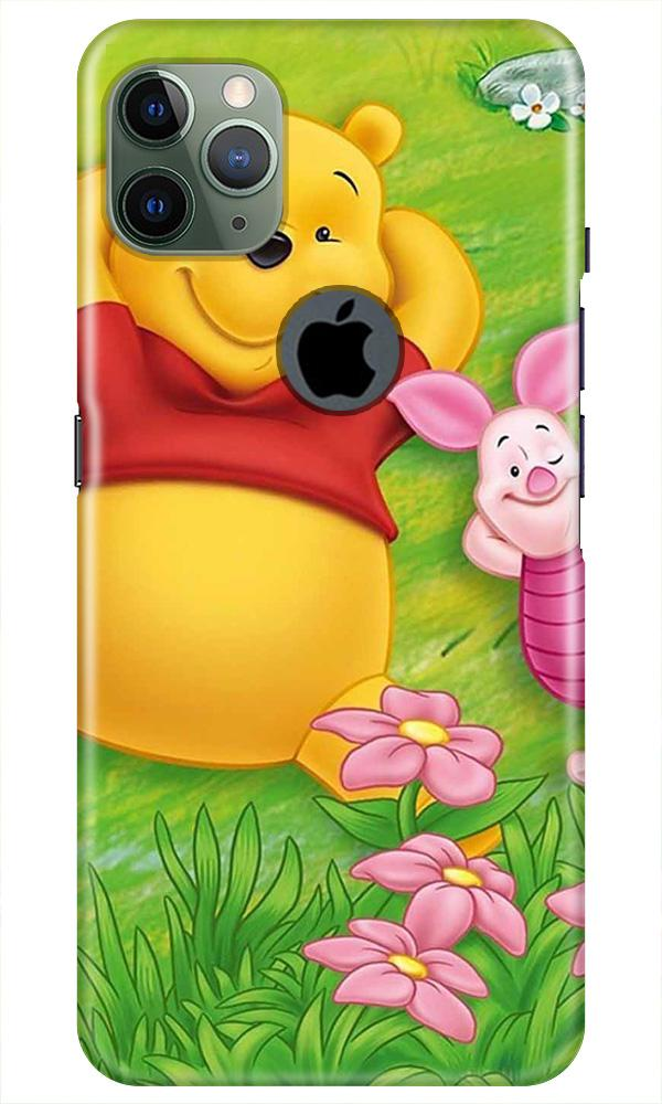 Winnie The Pooh Mobile Back Case for iPhone 11 Pro Max Logo Cut (Design - 348)