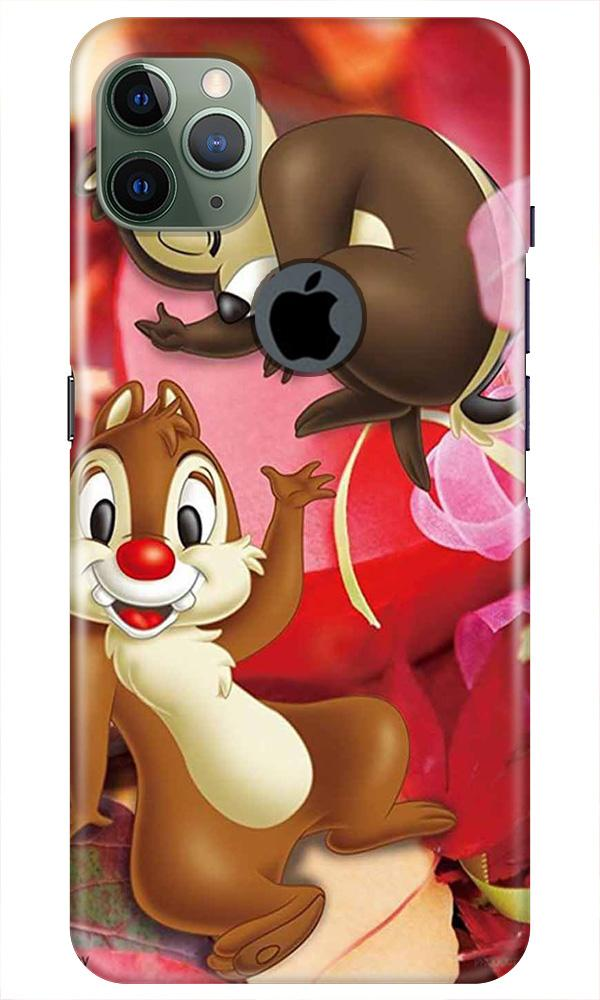 Chip n Dale Mobile Back Case for iPhone 11 Pro Max Logo Cut (Design - 349)