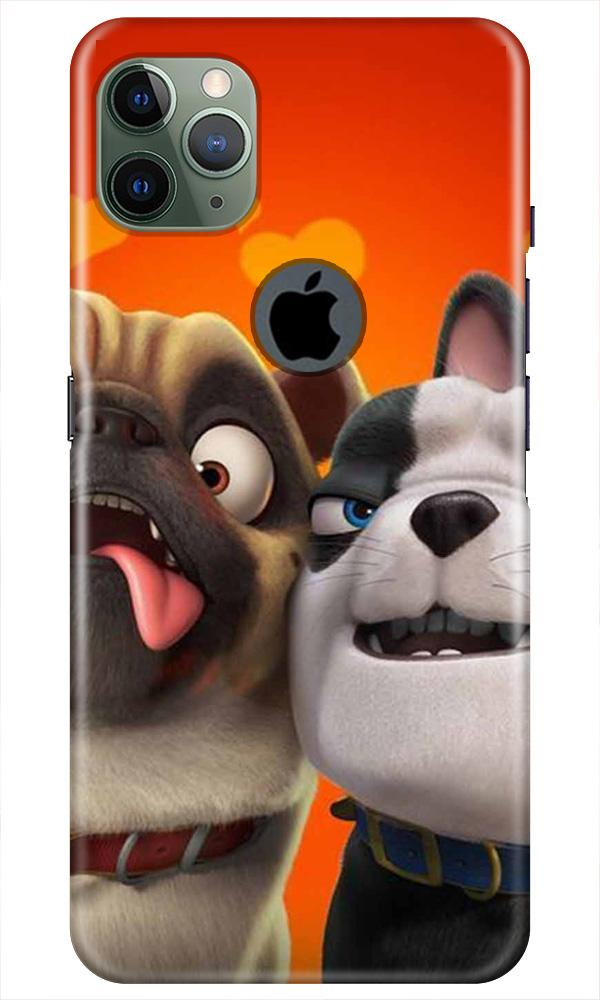 Dog Puppy Mobile Back Case for iPhone 11 Pro Max Logo Cut (Design - 350)