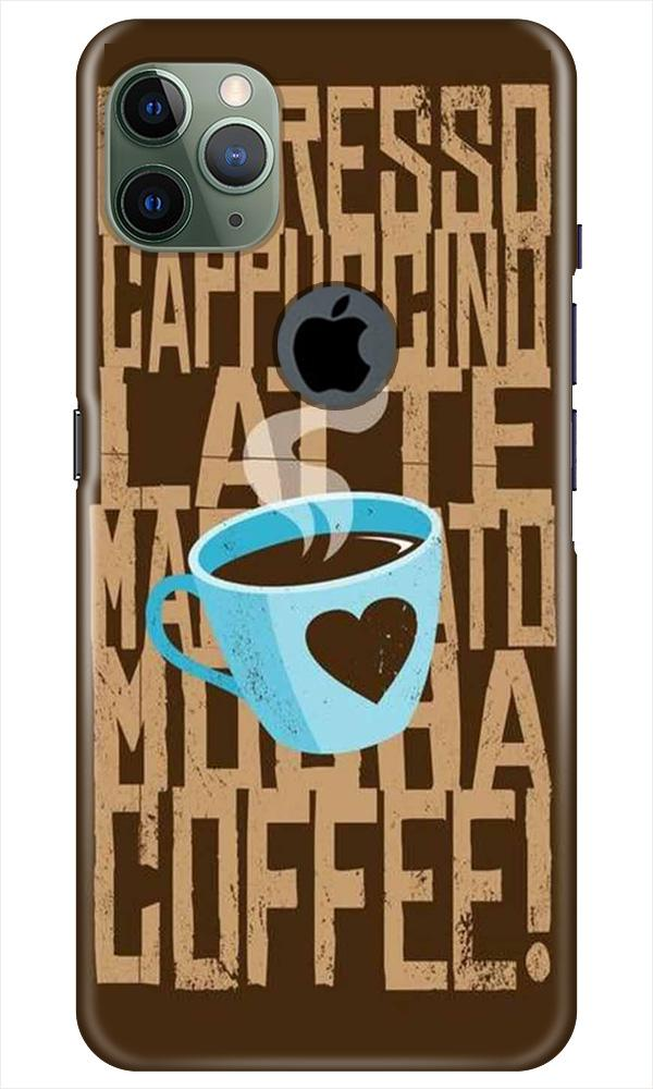 Love Coffee Mobile Back Case for iPhone 11 Pro Max Logo Cut (Design - 351)