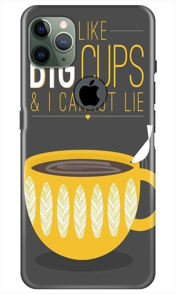 Big Cups Coffee Mobile Back Case for iPhone 11 Pro Max Logo Cut (Design - 352)