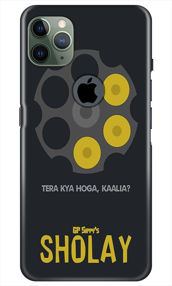 Sholay Mobile Back Case for iPhone 11 Pro Max Logo Cut (Design - 356)