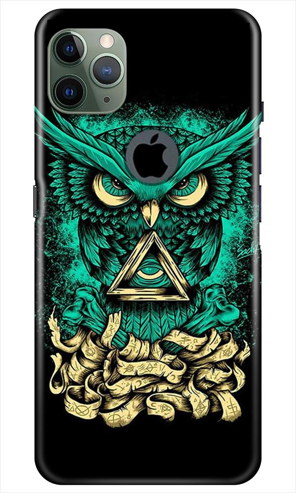Owl Mobile Back Case for iPhone 11 Pro Max Logo Cut (Design - 358)