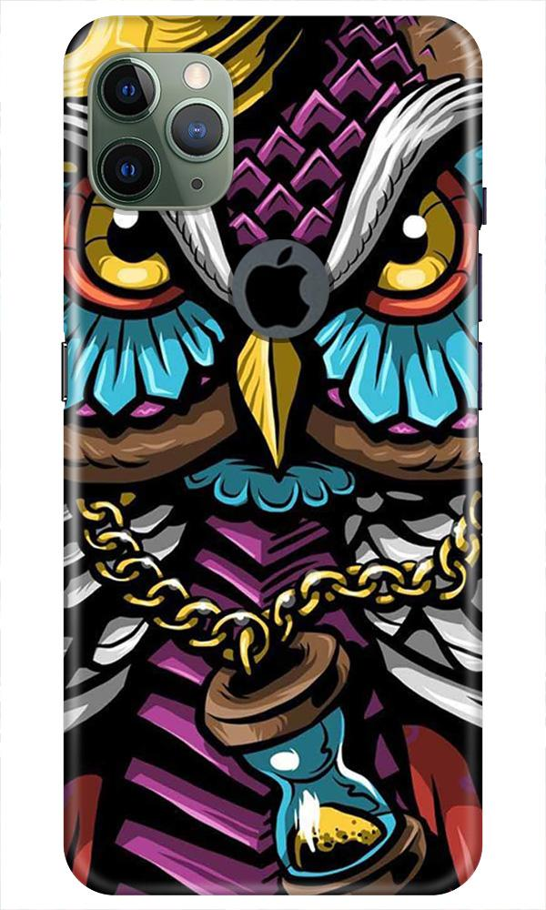 Owl Mobile Back Case for iPhone 11 Pro Max Logo Cut (Design - 359)