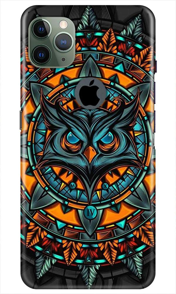 Owl Mobile Back Case for iPhone 11 Pro Max Logo Cut (Design - 360)