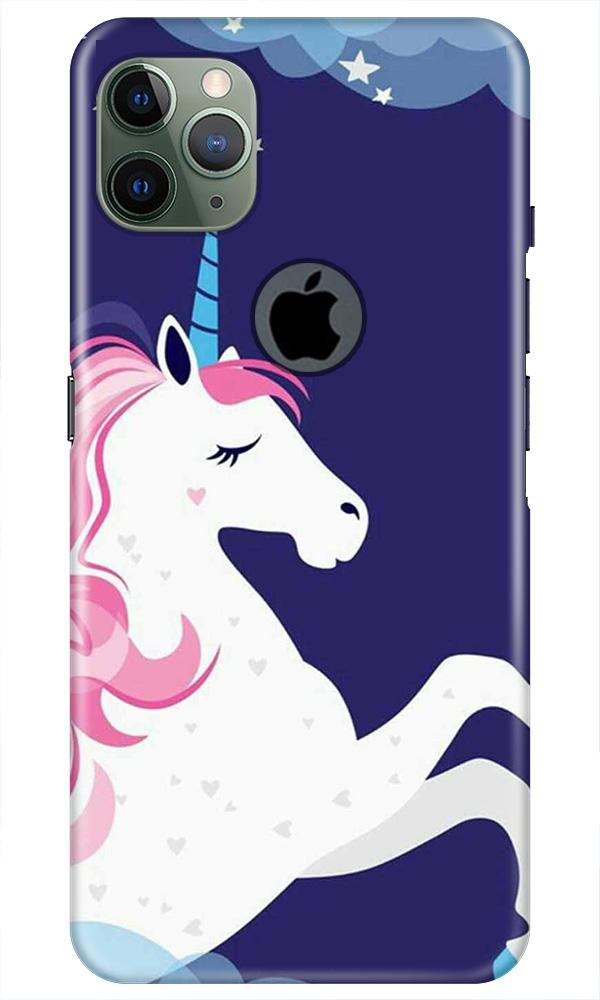 Unicorn Mobile Back Case for iPhone 11 Pro Max Logo Cut (Design - 365)